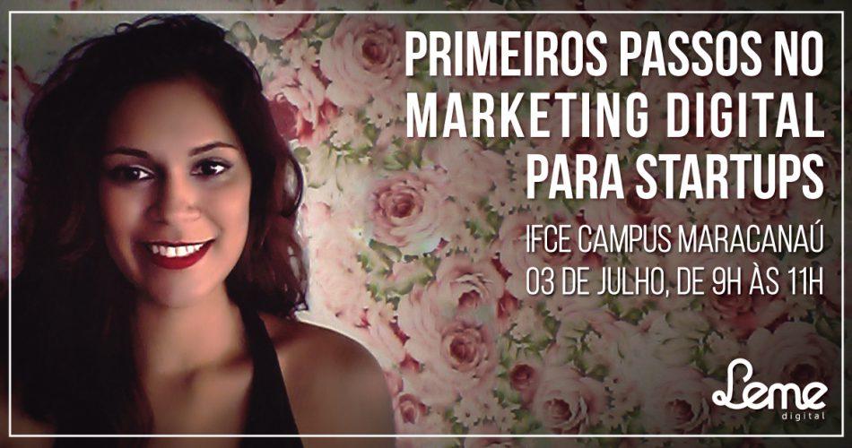 Renata Blima ministra palestra para empresas incubadas do IFCE-Maracanaú sobre Marketing Digital