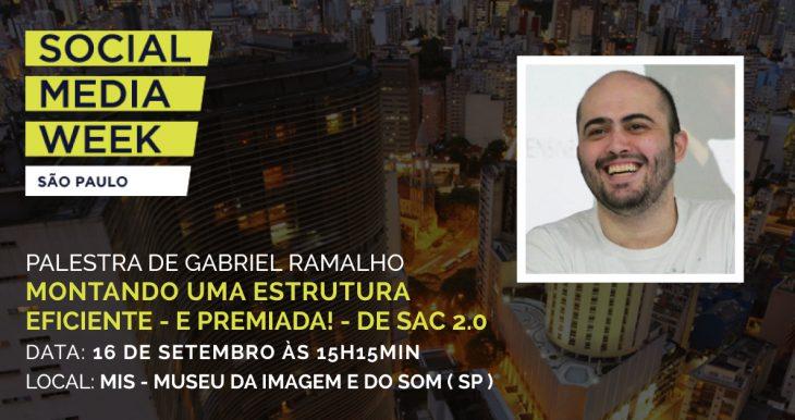Gabriel Ramalho participa como palestrante da edição latino-americana do maior evento de mídias sociais do mundo