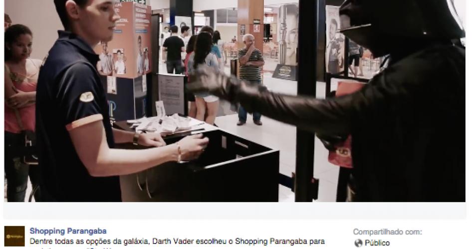 Leme Digital desenvolve vídeo para a estreia de Star Wars – O Despertar da Força no Shopping Parangaba