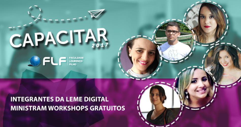 Integrantes da Leme Digital ministram workshops gratuitos no Capacitar 2017